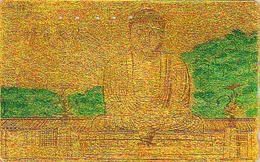 Télécarte DOREE Japon / 110-007 - RELIGION - BOUDDHA De KAMAKURA Nara - Japan GOLD Phonecard - 283 - Culture