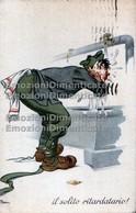 Il Solito Ritardatario. Illustrata Soldato Naia 3°reggimento Artiglieria Celere - Humour
