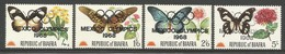 1968 Biafra Butterflies And Flowers (Overprinted Mexico Olympic Games 1968) Set (** / MNH / UMM) - Butterflies