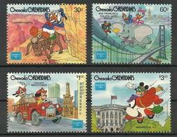 1986 Grenada Grenadines AMERIPEX Set And Souvenir Sheet (** / MNH / UMM) - Disney