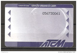 ITALIA - Biglietto Autobus Carpi (MO) ATCM Urbano - Bus