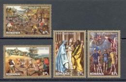 Romania 2014 Art Painting 4v** - Blocks & Sheetlets