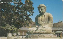 Télécarte Japon / 110-011 - RELIGION - BOUDDHA De KAMAKURA Nara - Japan Phonecard - 284 - Culture