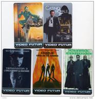 FRANCE LOT 5 CARTES VIDEO FUTUR RARE CASINO ROYALE JAMES BOND 007, SPIDERMAN, TERMINATOR 3, CHARLIE Et MATRIX - France