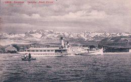 """Zürichsee, Dampfer """"Stadt Zürich"""" Bateau à Vapeur (10826) - ZH Zürich"""