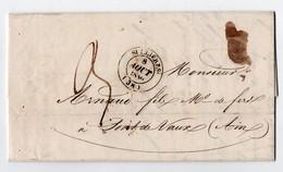 * - LAC De Sellières (39) De 1840 - Facture Du Haut-Fourneau Et Fonderie Monnier-Jobez à Baudin - Postmark Collection (Covers)