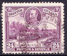 BRITISH GUIANA 1934 KGVI 24 Cents Purple SG294, Fine Used - British Guiana (...-1966)