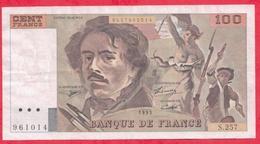"""100 Francs """"Delacroix"""" 1995---VF/SUP---Série S.257 - 1962-1997 ''Francs''"""