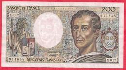 """200 Francs """"Montesquieu"""" 1983---VF/SUP---Série P.010-----AUCUN TROU D EPINGLE - 1962-1997 ''Francs''"""