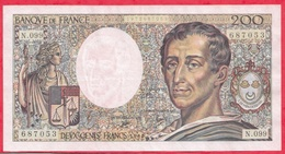 "200 Francs ""Montesquieu"" 1990---XF/SUP+---Série N.099 - 1962-1997 ''Francs''"