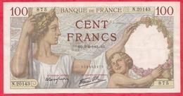 """100 Francs """"Sully"""" Du 03/04/1941.AG ----VF/SUP-Série N.20143 - 1871-1952 Anciens Francs Circulés Au XXème"""