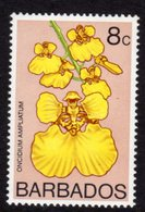 BARBADOS - 1974 8c ORCHID STAMP WMK W12 S/W FINE MNH ** SG 490 - Barbados (1966-...)