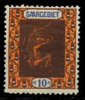 SAARGEBIET LANDS.BILD Nr 54A Postfrisch X78854E - 1920-35 Saargebiet – Abstimmungsgebiet