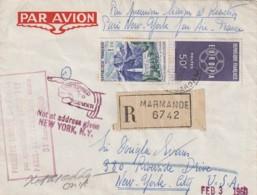 *** Lettre Premiere Liaison  *** Aérienne  PARIS NEW YORK 1960 Avion à Réaction - Poste Aérienne