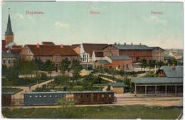 Estonia, Parnu Pernau, Train Railroad Railway Station - Estonie