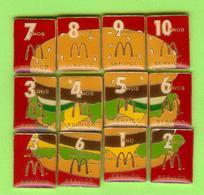 12 Pin's Mac Do McDonald's Puzzle Hamburger (3 Mois À 10 Ans Service) RARE - SP58 - McDonald's
