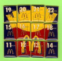 12 Pin's Mac Do McDonald's Puzzle Frites (11 Ans À 22 Ans Service) RARE - SP57 - McDonald's
