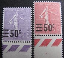 R1692/398 - 1926 - TYPE SEMEUSE LIGNE - N°223 à 224 BdF NEUFS** - BON CENTRAGE - 1903-60 Semeuse Lignée