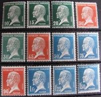 R1692/399 - 1923 - TYPE PASTEUR (SERIE COMPLETE) N°170 à 181 NEUFS** - Cote : 190,00 € - 1922-26 Pasteur