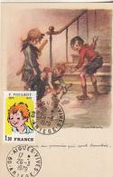 """POULBOT  Carte Avec Timbre """"  C'est Ceux Du Premier...."""" - Poulbot, F."""