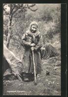 AK Alte Norwegerin In Einem Zeltlager In Der Finnmark - Völker & Typen