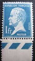 R1692/400 - 1923 - TYPE PASTEUR N°179 BdF NEUF**- Cote Sup à 50,00 € - VARIETE ➤ Piquage Décalé Entre Le Timbre Et BdF - 1922-26 Pasteur