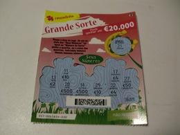 Loterie/ Lottery/ Loteria/ Lotaria Instant Instantânia Raspadinha Jogo Nº 357 - Grande Sorte Portugal - Billets De Loterie