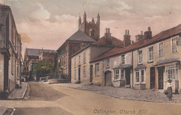 Callington Church Hill Liptons Tea WW1 1914 Cornwall Postcard - Angleterre