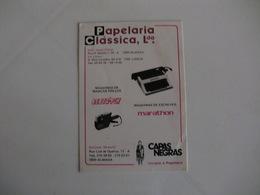 Papelaria Clássica  Almada Portugal Portuguese Pocket Calendar 1988 - Calendriers