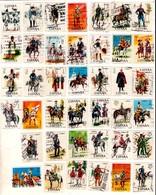 LOTE DE SELLOS DE ESPAÑA USADOS (MILITARES - MILITARY) (001). - 1931-Hoy: 2ª República - ... Juan Carlos I