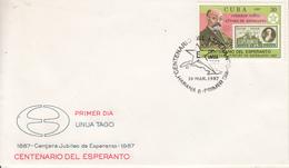 """Lettre De Cuba  """" Centenario Del Esperanto """" - Esperanto"""