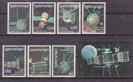 Raumfahrt, Kambodscha  855/61+Bl.152 , Xx  (4191) - Space