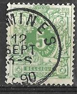 8S-789: N°45: COMINES - 1869-1888 Lying Lion