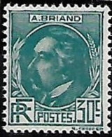 France 1933 Célébrités Aristide Briand, 1  Val Mnh - Frankreich