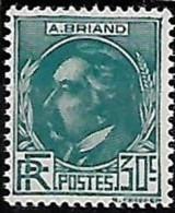 France 1933 Célébrités Aristide Briand, 1  Val Mnh - France