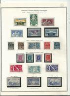 76 Timbres  (N & O ) Des Années 1924 à 1954...sur 4 Pages D'album Thiaude...à Voir - France
