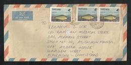 Tanzania Air Mail Postal Used Cover Tanzania To Pakistan  Marine Life Fish Animal - Tanzanie (1964-...)