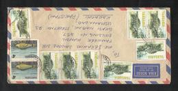 Tanzania Air Mail Postal Used Cover Tanzania To Pakistan  Rare Animal Tortoise Marine Life Fish Animal - Tanzanie (1964-...)