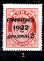 Grecia-F0069 - 1923 - Y&T: N.316, 318, (+) - A Scelta. - Neufs