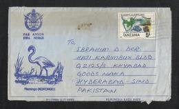 Tanzania Air Mail Postal Used Aerogramme Cover Tanzania To Pakistan Transport Communication - Tanzania (1964-...)