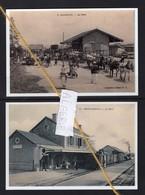 2 REPRODUCTIONS  ALGERIE MARANGO MOSTAGANEM  GARE  STATION BAHNHOF TRAIN TREIN - Gares - Avec Trains