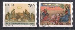 ITALIA  1995 NATALE SASS. 2191-2192 MNH XF - 6. 1946-.. Repubblica
