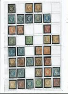 26  Timbres CLASSIQUES Entre N° 3 ET 32 ...sur 1  Page D' Album Thiaude............à Voir - France