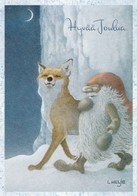 Brownie - Gnome - Elf Is Walking With Fox - Lennart Helje - Sonstige