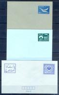 X9- Three Different  Pakistan Postal Stationery Envelopes. Mosque. Masjed. - Pakistan