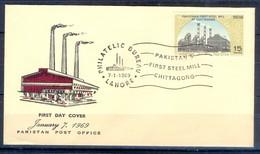 X27- Pakistan 1969. First Steel Mill At Chitagong. - Pakistan