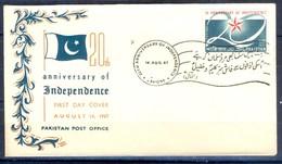 X31- Pakistan 1967. 20th Anniversary Of Independence. Flag - Pakistan