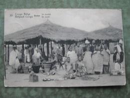 CONGO BELGE - BOMA - LE MARCHÉ 1921 ( 2 Scans ) - Congo - Kinshasa (ex Zaire)