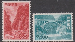 Japan SG643-644 1951 Tourism Shosenkyo, Mint Light Hinged - 1926-89 Imperatore Hirohito (Periodo Showa)