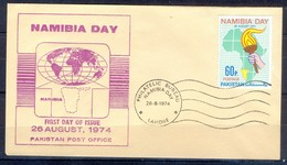 X44- Pakistan 1974. Namibia Day. Globe. Map. - Pakistan